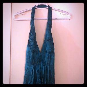 Halter top, silk, evening gown.